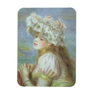 Pierre une jeune femme de Renoir   dans un Magnets Rectangulaire