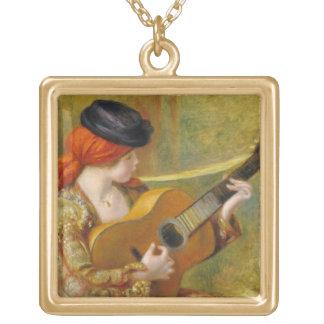 Pierre une jeune femme espagnole de Renoir | avec Collier Plaqué Or