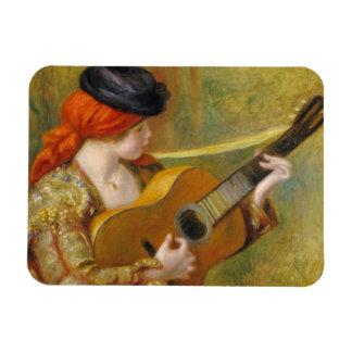 Pierre une jeune femme espagnole de Renoir | avec Magnet Flexible