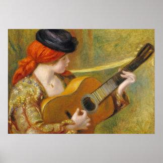 Pierre une jeune femme espagnole de Renoir | avec Poster
