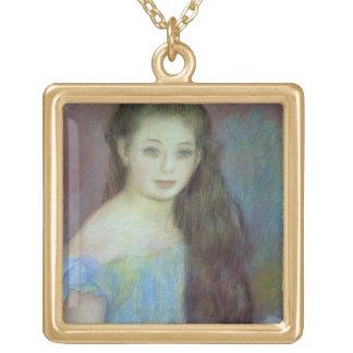 Pierre une jeune fille de Renoir | avec des yeux Collier Plaqué Or