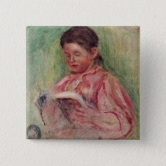Pierre une lecture de femme de Renoir | Pin's