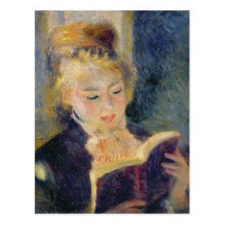 Pierre une lecture de fille de Renoir   Carte Postale