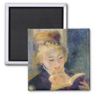 Pierre une lecture de fille de Renoir   Magnet Carré