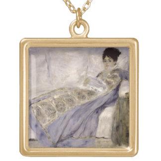 Pierre une Madame Monet de Renoir | sur un sofa Collier Plaqué Or