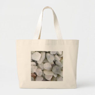 pierres blanches lisses des roches grand tote bag