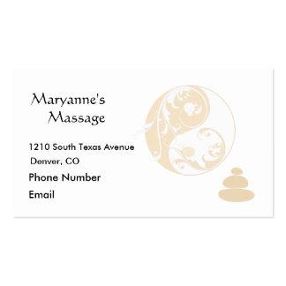 Pierres de massage et Yin embelli et Yang Carte De Visite Standard