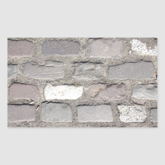 pierres de pavé sticker rectangulaire