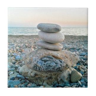 Pierres de plage de zen petit carreau carré