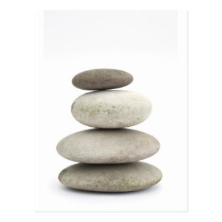 Pierres de yogo de zen carte postale