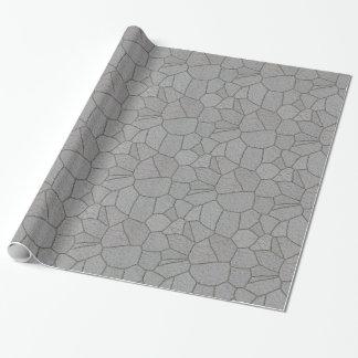 Pierres grises de machine à paver d'ardoise - papier cadeau noël