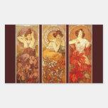 Pierres précieuses - Alphonse Mucha Stickers Rectangulaires