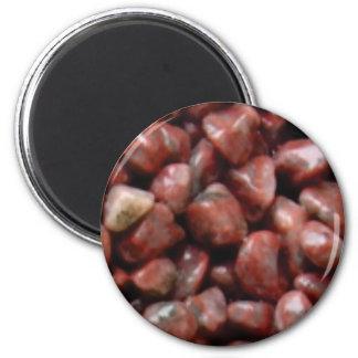 pierres rouges de finition aimant