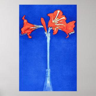 Piet Mondrian - peinture de fleur de beaux-arts Posters