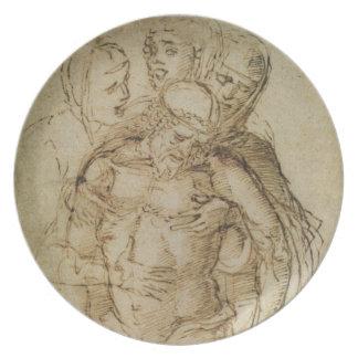 Pieta, attribué ou à Giovanni Bellini (c.14 Assiettes Pour Soirée