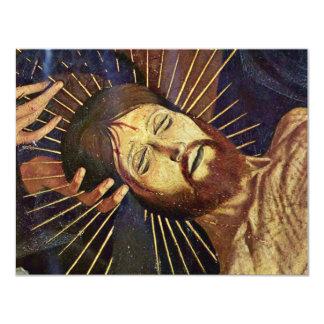 Pieta de Villeneuve-Les-Avignon par Meister Der pi Carton D'invitation 10,79 Cm X 13,97 Cm
