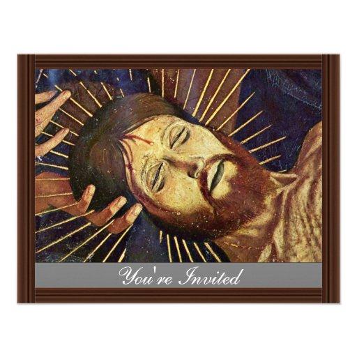 Pieta de Villeneuve-Les-Avignon par Meister Der pi Cartons D'invitation Personnalisés