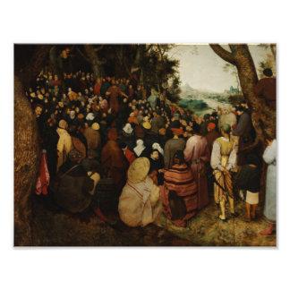 Pieter Bruegel l'aîné - le sermon de St John Impression Photo
