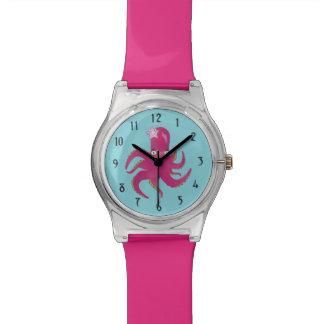 Pieuvre rose montres