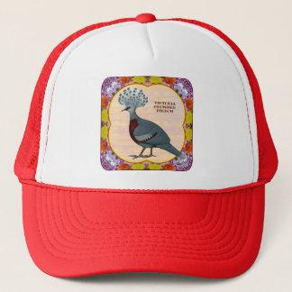 Pigeon couronné floral casquette