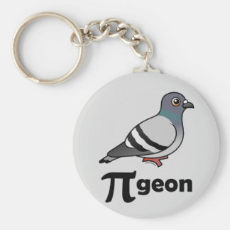 Pigeon de Birdorable/pigeon pi Porte-clé Rond