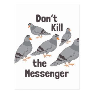 Pigeon de messager carte postale