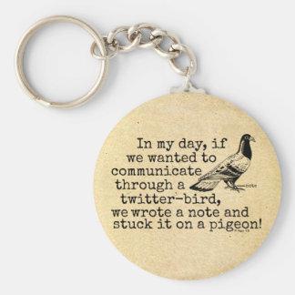 Pigeon drôle d'oiseau de gazouillement de porte-clés