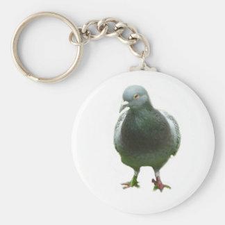 Pigeon Porte-clé Rond