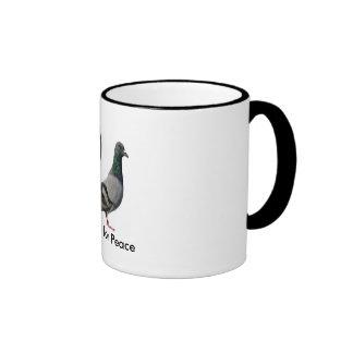 Pigeons pour la paix tasse à café