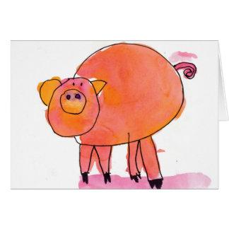 Piggle • Sarah Bowen, âge 7 Cartes De Vœux