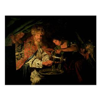 Pilate se lavant les mains (huile sur la toile) cartes postales