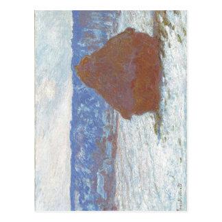 Pile de Claude Monet de blé (effet de neige, Carte Postale