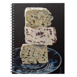Pile de fromage de Stilton Carnet