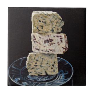 Pile de fromage de Stilton Carreau