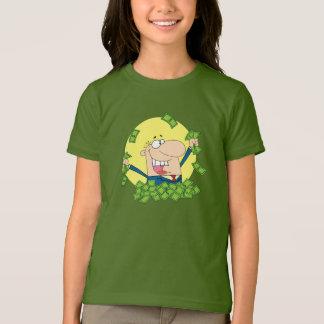 Pile de T-shirt de filles d'argent