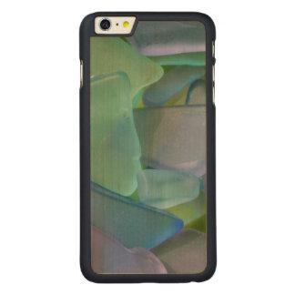 Pile de verre bleu de plage, Alaska Coque En Érable iPhone 6 Plus