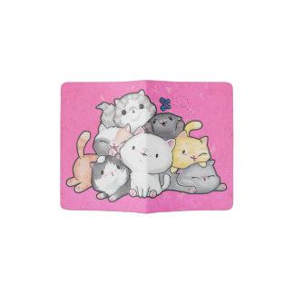 Pile des chatons protège-passeport