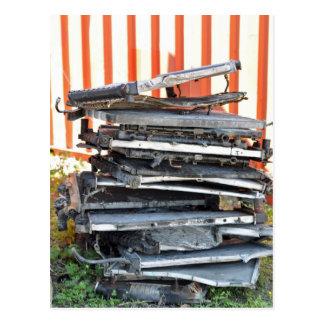 Pile des radiateurs carte postale