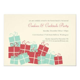 Pile d'invitation de fête de vacances de présents carton d'invitation  12,7 cm x 17,78 cm