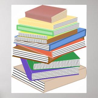 Pile nerd de livre affiches