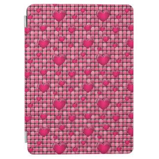 Pile rose avec des coeurs protection iPad air