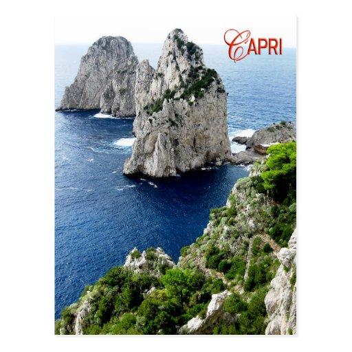 Piles de Faraglioni, Capri, Italie Carte Postale
