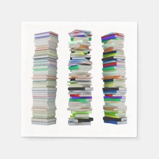 Piles de serviettes de papier de livres serviette en papier
