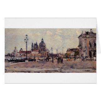 Pilier à Venise par Eugene Boudin Carte De Vœux