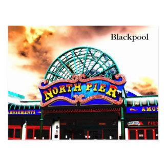 Pilier de nord de Blackpool Carte Postale