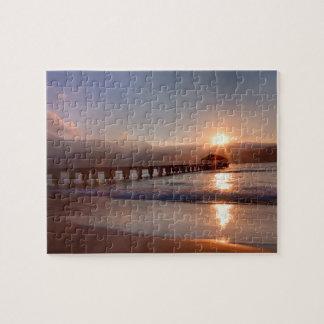 Pilier de plage au coucher du soleil, Hawaï Puzzles
