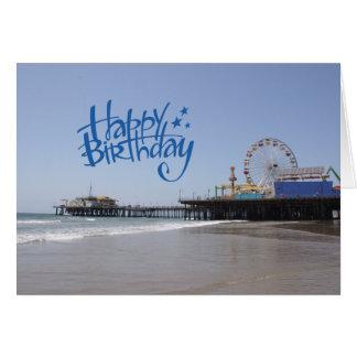 Pilier de Santa Monica de joyeux anniversaire Carte De Vœux