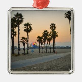 Pilier des Etats-Unis, la Californie, Santa Monica Ornement Carré Argenté