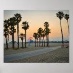 Pilier des Etats-Unis, la Californie, Santa Monica Poster