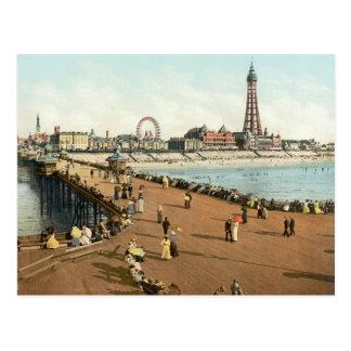 Pilier du nord de tour de Blackpool, c.1895 Carte Postale